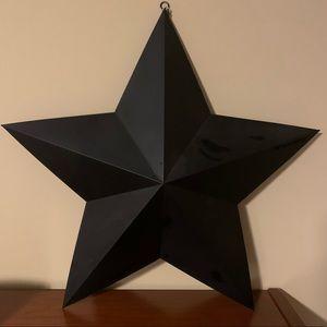 Black Matte Finish Metal Star